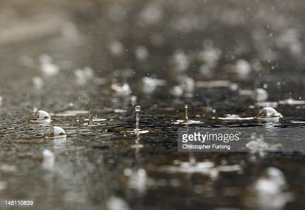 Heavy rain continues to fall as residents and business owners clean up after flash foods on July 10 2012 in Hebden Bridge England Hebden Bridge and...