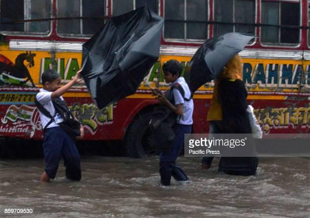 Heavy rain disrupting the lives of common people in Kolkata