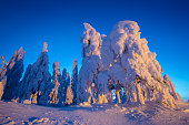 Heavy snow landscape from Sotkamo, Finland.
