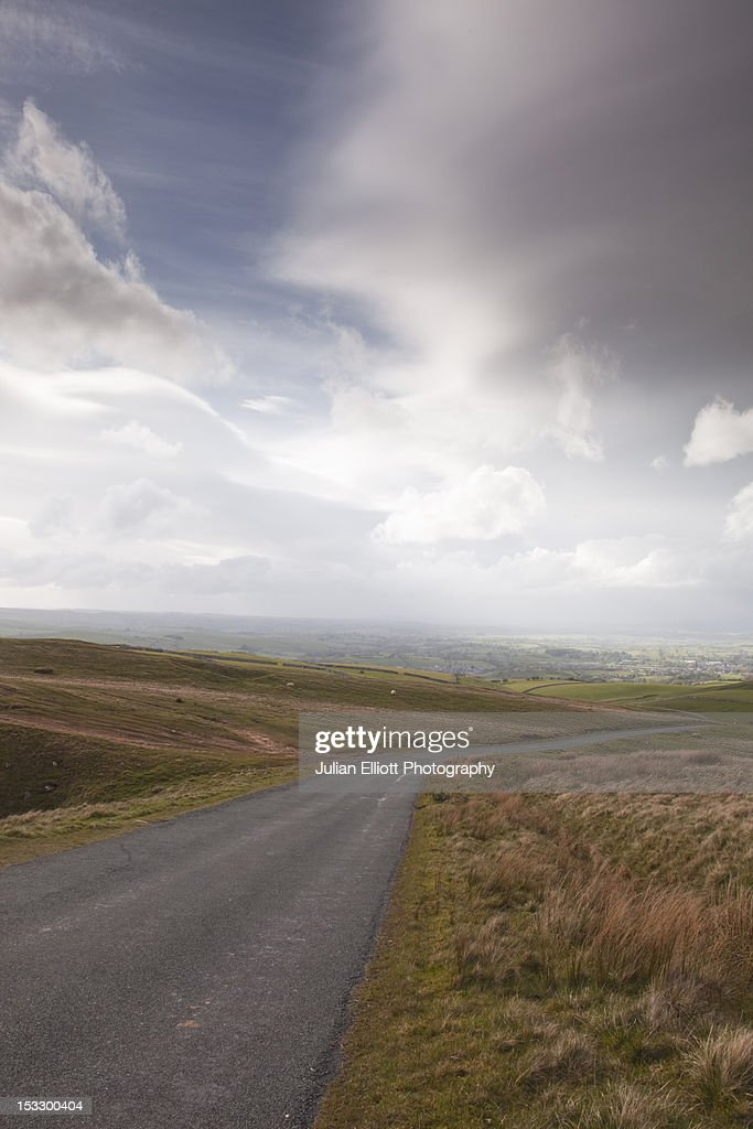 A heavy storm passing over Birkdale Common. : Stock Photo