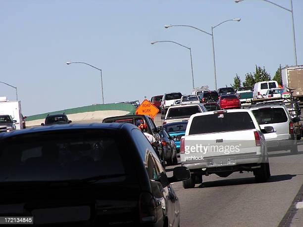 Heavy Traffic on Hot Day