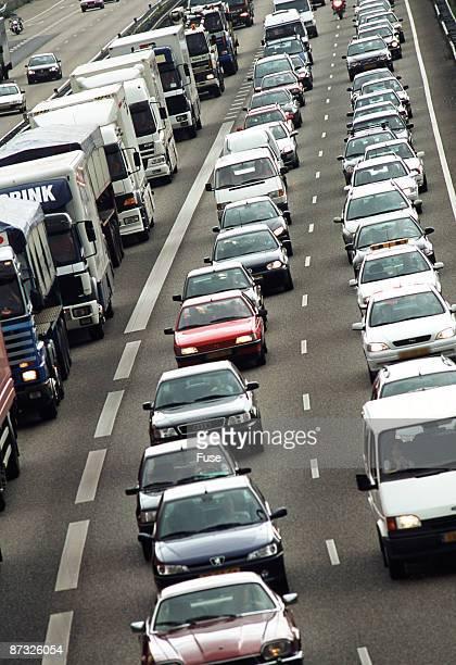 Heavy traffic on motorway