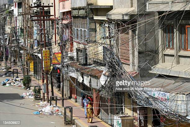 Heavy wiring in Imphal, Manipur