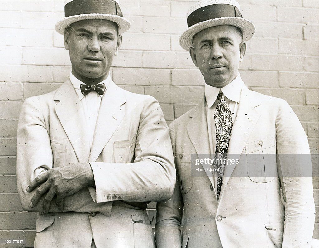 Heavyweight boxer Jack Dempsey and his manager Jack Kearns New York New York early to mid 1920s