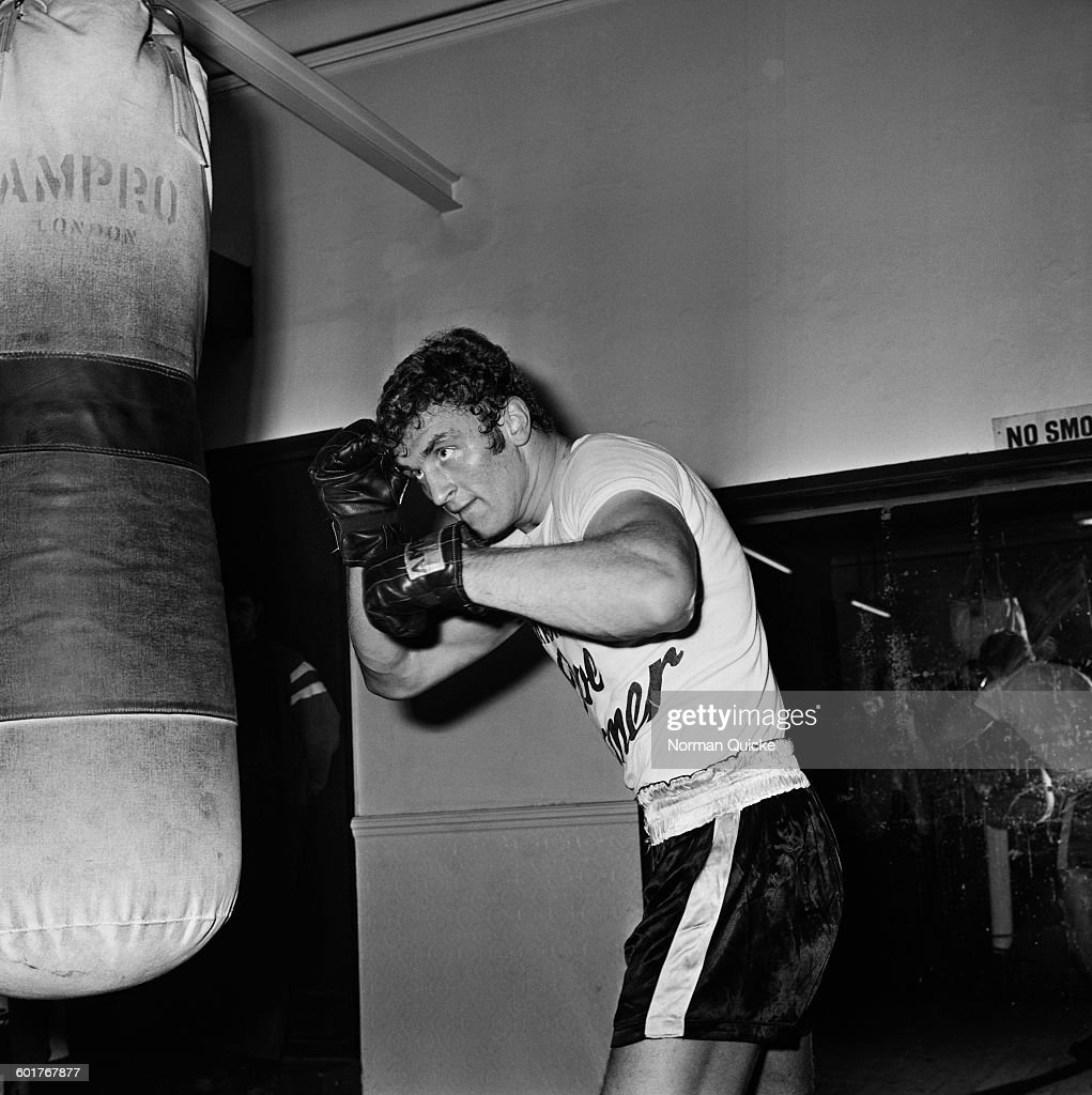 Heavyweight boxer <a gi-track='captionPersonalityLinkClicked' href=/galleries/search?phrase=Joe+Bugner&family=editorial&specificpeople=239003 ng-click='$event.stopPropagation()'>Joe Bugner</a> in training, UK, 5th February 1970.