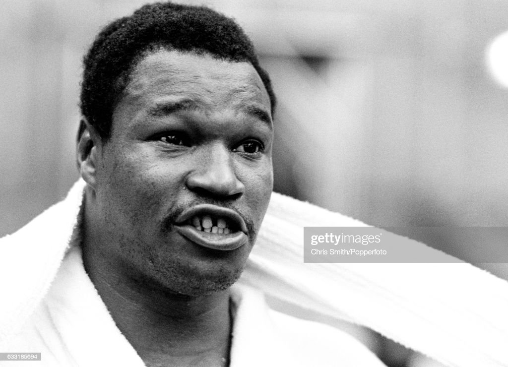 Heavyweight boxer Larry Holmes of the USA prior to his world heavyweight fight against Gerry Cooney in Las Vegas, circa June 1982. Holmes retained his title when the fight was stopped in the 13th round.