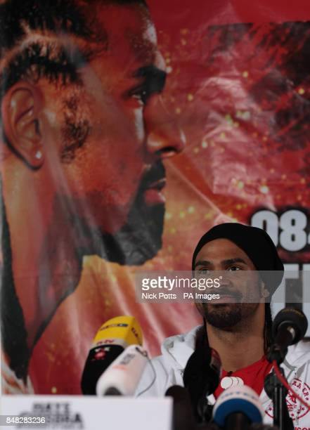 Heavyweight boxers David Haye during the Head to Head at the Gilgamesh Restaurant Bar and Lounge London