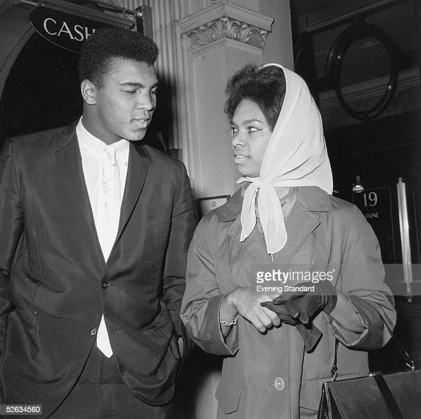 Heavyweight boxing champion Cassius Clay with his wife 21st June 1963
