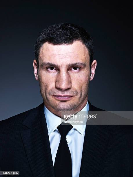 Heavyweight boxing champion Vitali Klitschko is photographed for Live magazine on March 11 2012 in Kiev Ukraine