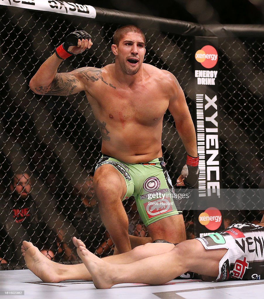 TORONTO, ON- SEPTEMBER 21 - Heavyweight Brendan Schaub from Venice Beach wins by submission over Matt Mitrione from Boca Raton at UFC 165 at the Air Canada Centre in Toronto, September 21, 2013.