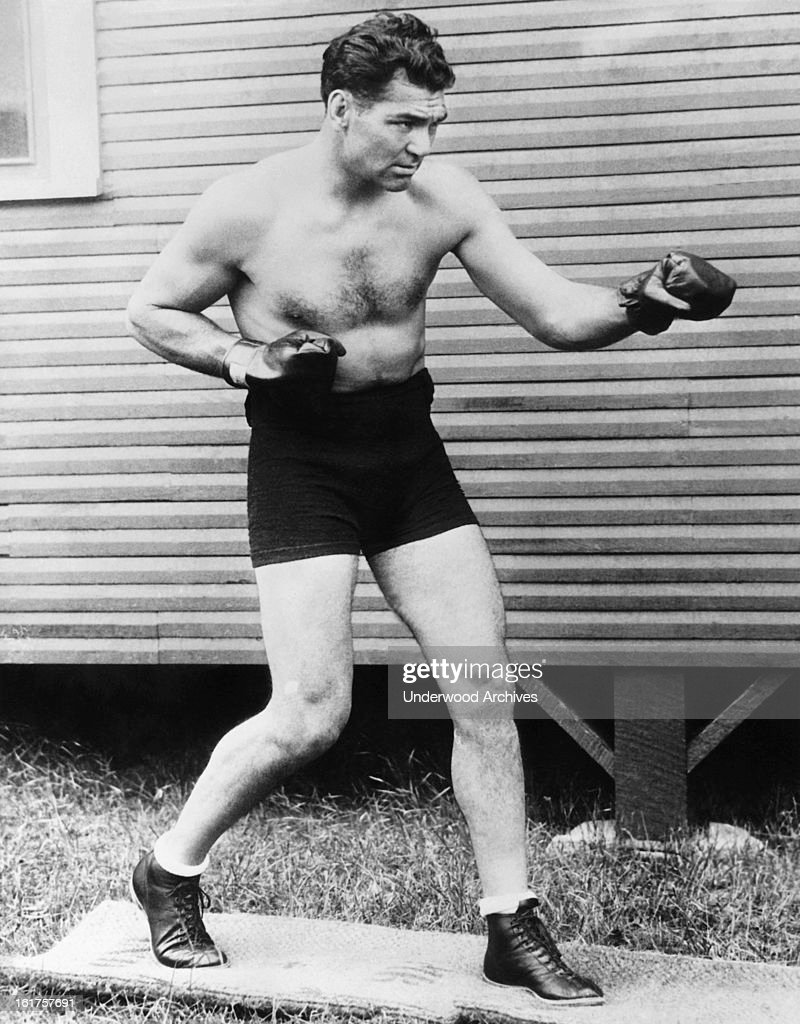 Heavyweight champion boxer <a gi-track='captionPersonalityLinkClicked' href=/galleries/search?phrase=Jack+Dempsey+-+Boxer&family=editorial&specificpeople=15348667 ng-click='$event.stopPropagation()'>Jack Dempsey</a>, mid 1920s.