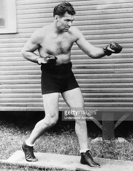 Heavyweight champion boxer Jack Dempsey mid 1920s