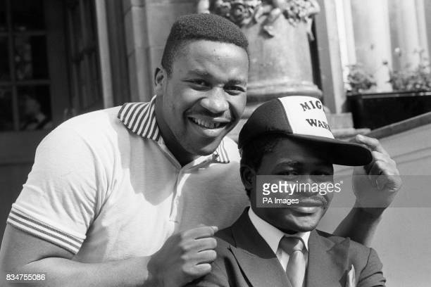 Heavyweight Tim Witherspoon with Featherweight Azumah Nelson