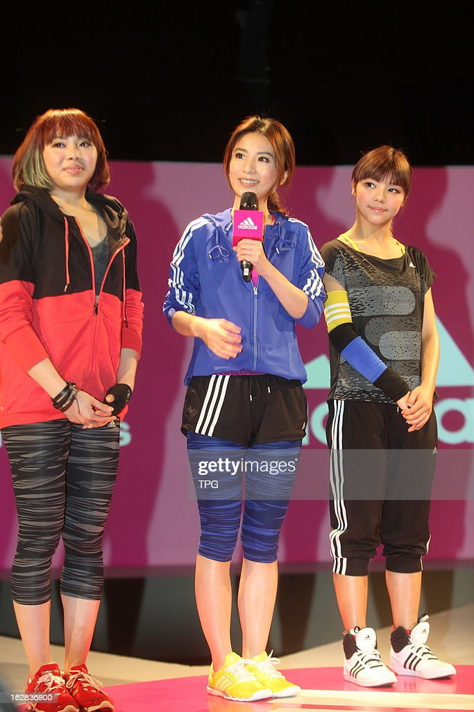 Hebe of Taiwan girl group S.H.E attend Adidas 'all in for mygirls' 2013 Sring/Summer launches activities as spokesman on Thursday February 28,2013 in Shanghai,China.