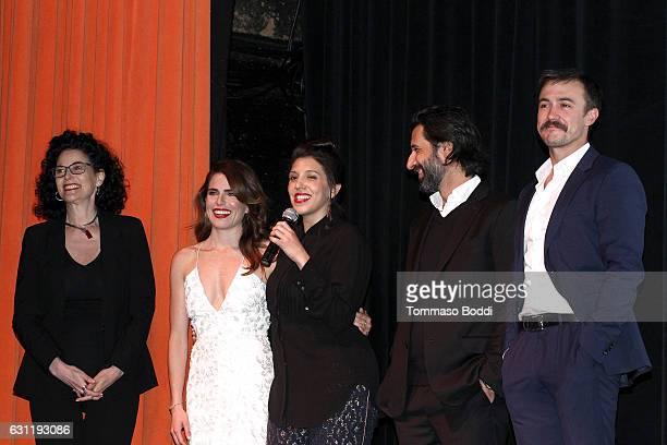 Hebe Tabachnik actor Ben O'Toole Director Catalina Aguilar actors Karla Souza and Jose Maria Yazpik attend the screening of 'Everybody Loves...
