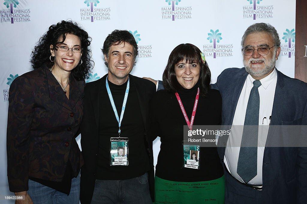 Hebe Tabachnik (L-R) Juan Carlos Maneglia, Tana Schembori and Ivan Trujillo at a Festival Awards Brunch at the 24th Annual Palm Springs International Film Festival on January 13, 2013 in Palm Springs, California.