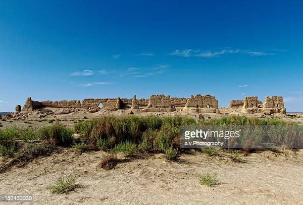 Hecang Fortress located in Gobi desert