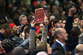 Hecklers on immigration policy interrupt US President Barack Obama as he speaks in support of of Connecticut Governor Dan Malloy on November 2 2014...