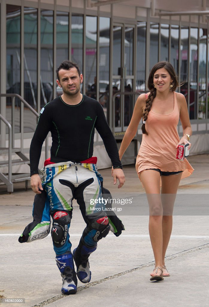 <a gi-track='captionPersonalityLinkClicked' href=/galleries/search?phrase=Hector+Barbera&family=editorial&specificpeople=626957 ng-click='$event.stopPropagation()'>Hector Barbera</a> of Spain and Avintia Blusens walks in paddock during MotoGP Tests in Sepang - Day Three at Sepang Circuit on February 28, 2013 in Kuala Lumpur, Malaysia.