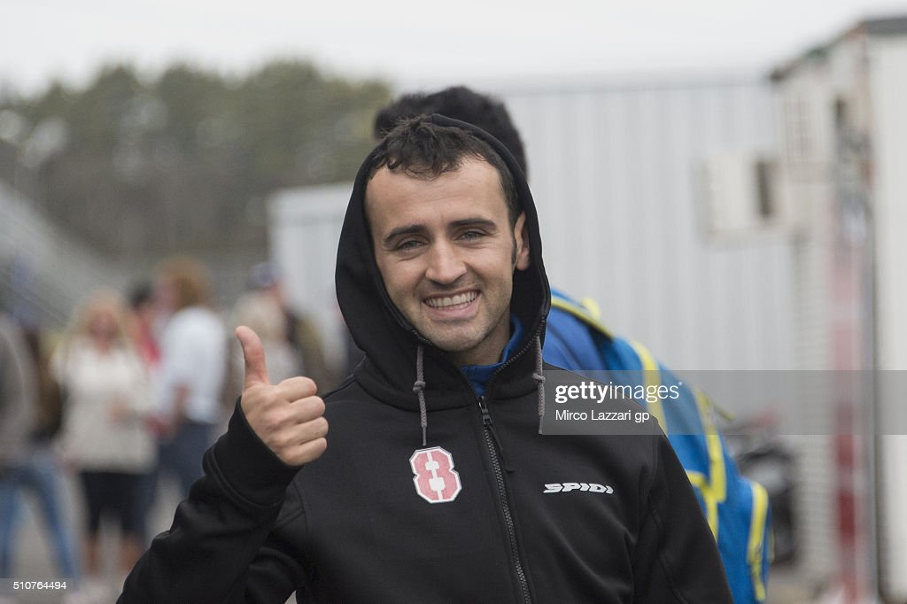 Hector Barbera of Spain and Avintia Racing smiles in paddock during the 2016 MotoGP Test Day at Phillip Island Grand Prix Circuit on February 17, 2016 in Phillip Island, Australia.