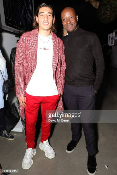 Hector Bellerin and David Nyanzi attend the launch of the GQ Style Autumn/Winter issue at 18montrose Kings Cross on October 11 2017 in London England