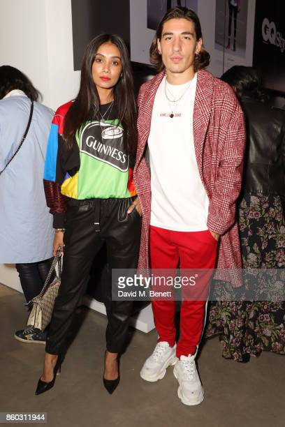 Hector Bellerin and guest attend the launch of the GQ Style Autumn/Winter issue at 18montrose Kings Cross on October 11 2017 in London England