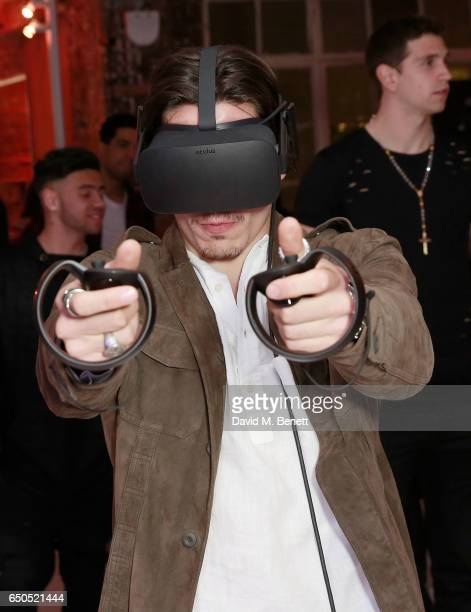 Hector Bellerin at the Oculus Game Days VIP opening night hosted by the Facebook owned virtual reality company Oculus on March 9 2017 in London...