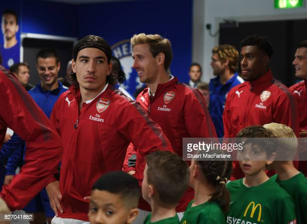 Hector Bellerin of Arsenal before the FA Community Shield match between Chelsea and Arsenal at Wembley Stadium on August 6 2017 in London England