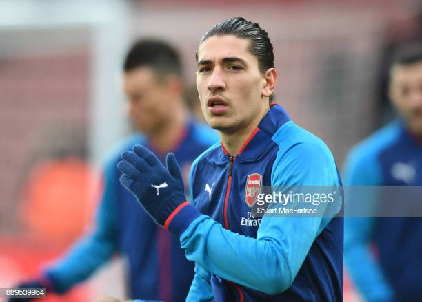 Hector Bellerin of Arsenal before the Premier League match between Southampton and Arsenal at St Mary's Stadium on December 10 2017 in Southampton...