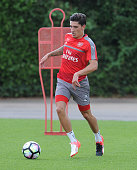 Hector Bellerin of Arsenal during a 1st team training session at London Colney on July 23 2016 in St Albans England