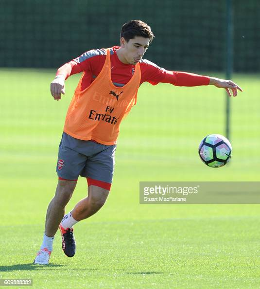 Hector Bellerin of Arsenal during a training session at London Colney on September 23 2016 in St Albans England