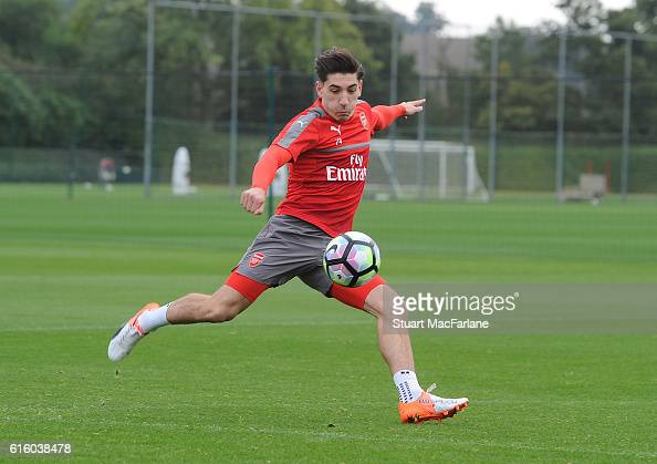 Hector Bellerin of Arsenal during a training session at London Colney on October 21 2016 in St Albans England