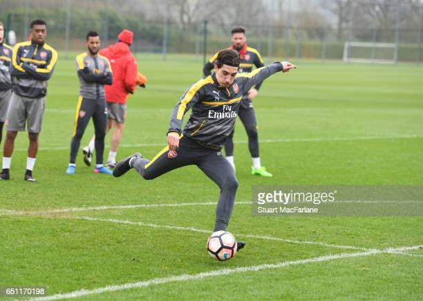 Hector Bellerin of Arsenal during a training session at London Colney on March 10 2017 in St Albans England