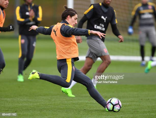 Hector Bellerin of Arsenal during a training session at London Colney on March 17 2017 in St Albans England