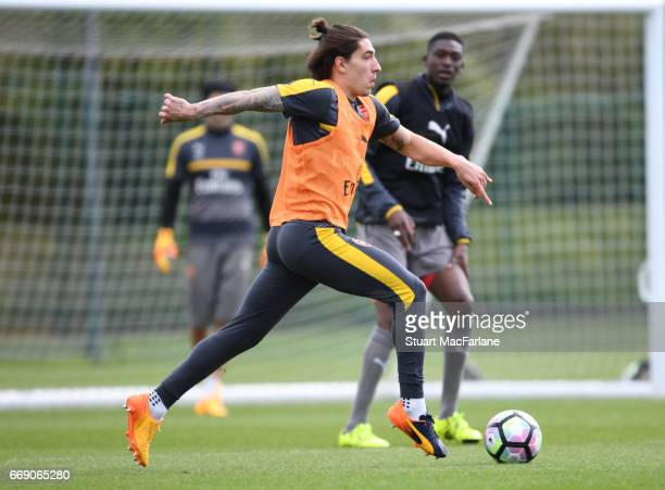 Hector Bellerin of Arsenal during a training session at London Colney on April 16 2017 in St Albans England