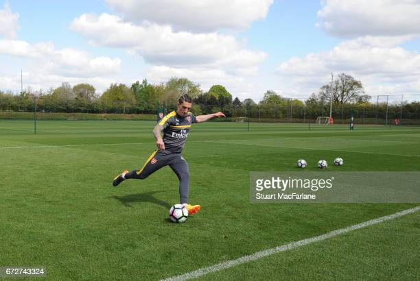 Hector Bellerin of Arsenal during a training session at London Colney on April 25 2017 in St Albans England