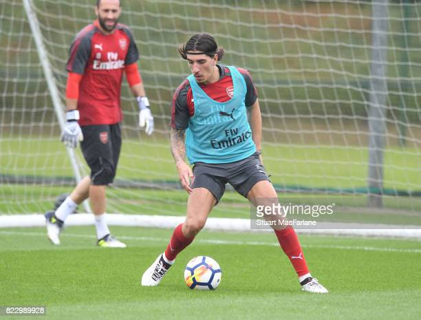 Hector Bellerin of Arsenal during a training session at London Colney on July 26 2017 in St Albans England