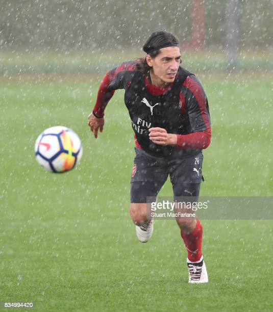 Hector Bellerin of Arsenal during a training session at London Colney on August 18 2017 in St Albans England