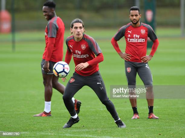 Hector Bellerin of Arsenal during a training session at London Colney on October 13 2017 in St Albans England