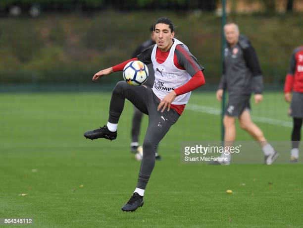 Hector Bellerin of Arsenal during a training session at London Colney on October 21 2017 in St Albans England