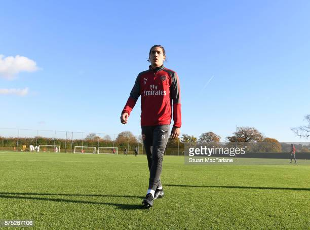 Hector Bellerin of Arsenal during a training session at London Colney on November 17 2017 in St Albans England