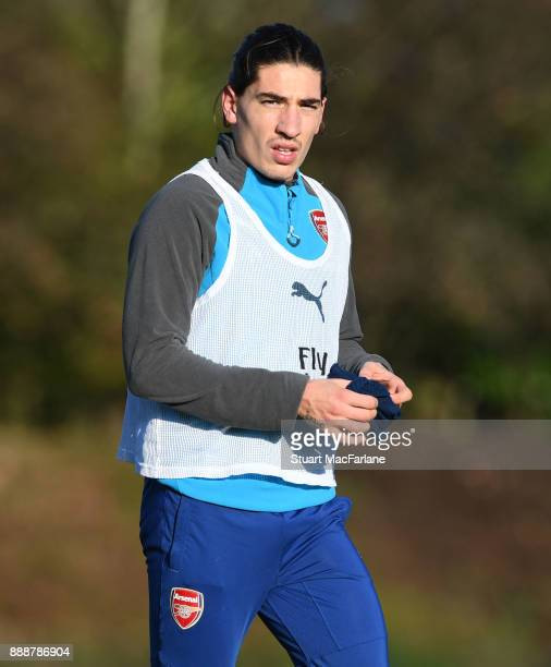 Hector Bellerin of Arsenal during a training session at London Colney on December 9 2017 in St Albans England