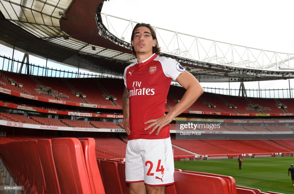 Hector Bellerin of Arsenal during the Arsenal 1st team photocall at Emirates Stadium on August 3, 2017 in London, England.