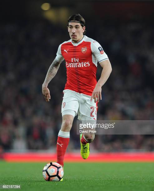 Hector Bellerin of Arsenal during the match between Arsenal and Lincoln City at Emirates Stadium on March 11 2017 in London England