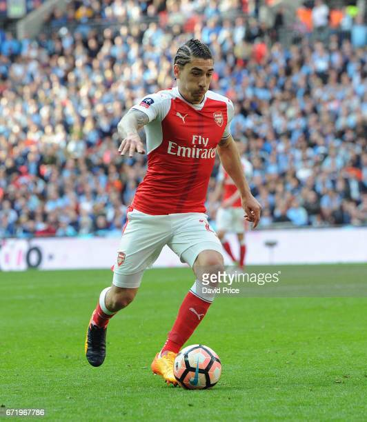 Hector Bellerin of Arsenal during the match between Arsenal and Manchester City at Wembley Stadium on April 23 2017 in London England