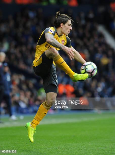 Hector Bellerin of Arsenal during the Premier League match between West Bromwich Albion and Arsenal at The Hawthorns on March 18 2017 in West...