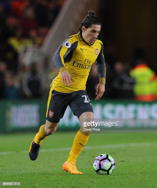 Hector Bellerin of Arsenal during the Premier League match between Middlesbrough and Arsenal at Riverside Stadium on April 17 2017 in Middlesbrough...