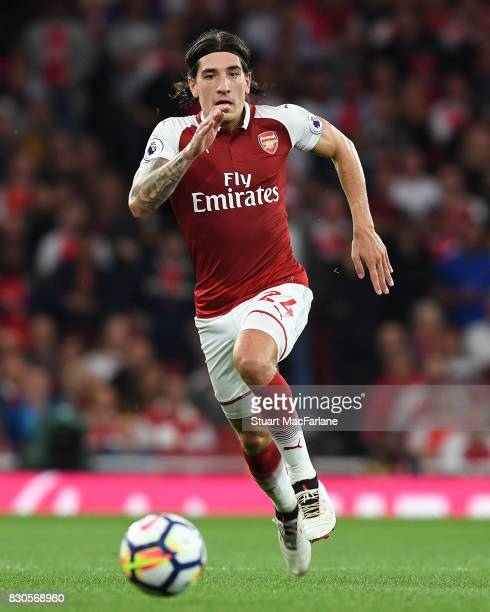 Hector Bellerin of Arsenal during the Premier League match between Arsenal and Leicester City at Emirates Stadium on August 11 2017 in London England