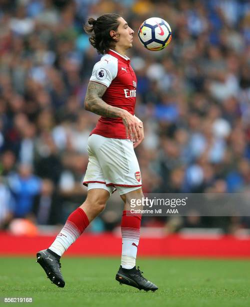 Hector Bellerin of Arsenal during the Premier League match between Arsenal and Brighton and Hove Albion at Emirates Stadium on October 1 2017 in...