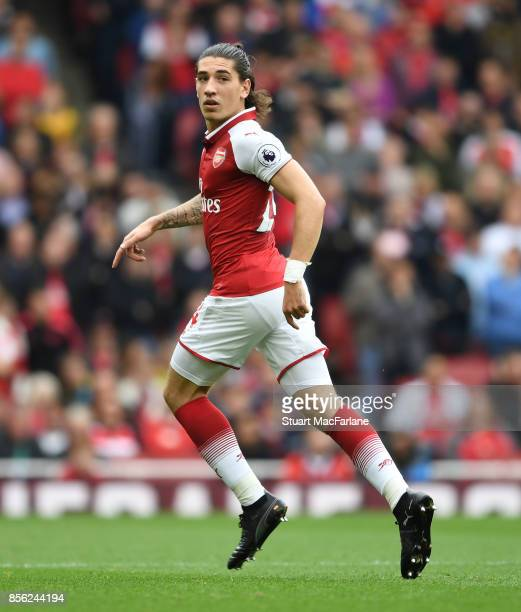 Hector Bellerin of Arsenal during the Premier League match between Arsenal and Brighton and Hove Albion at Emirates Stadium on September 30 2017 in...